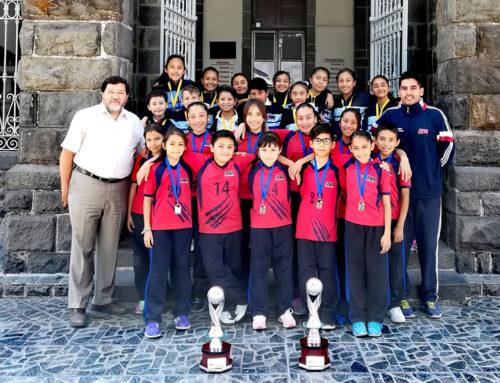 1er y 2do lugar liga de Voleibol Mintonette