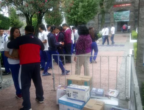 IMM Centro avanza en recaudación de víveres para Puebla Comparte