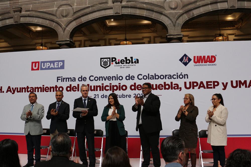 UMAD e IMM darán becas a trabajadores del Ayuntamiento de Puebla