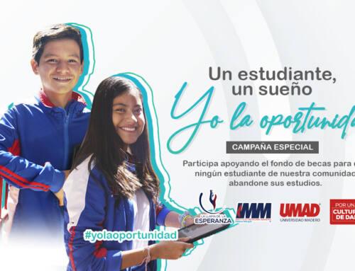 UMAD, IMM e INM buscan evitar que niños y jóvenes pierdan sus estudios