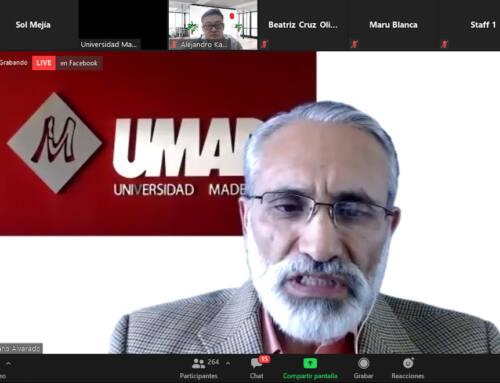Comunidad UMAD-IMM escuchó interesante conferencia de Alejandro Kasuga
